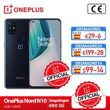 OnePlus Nord N10 5G OnePlus oficjalny sklep światowa premiera globalna wersja 6GB 128GB Snapdragon 690 Smartphone 90Hz wyświetlacz 64MP; code:AETECH21411($100-10)