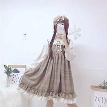 Новинка цельнокроеное женское платье в японском стиле Лолита