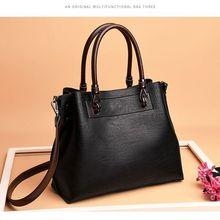 цена на Leather handbags soft leather ladies handbag shoulder diagonal bag wild large-capacity fashion shoulder mother bag