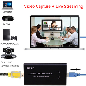 Image 3 - Rullz מקורי USB3.0 HDMI 4K 60Hz וידאו כרטיס לכידת HDMI כדי USB וידאו הקלטת תיבת משחק חיים הזרמה זרם שידור w מיקרופון