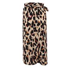 Yfashion Sexy Wild Leopard Print Slit Bandage Tight Waist Skirt Female Dress rose print slit back pencil dress