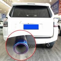 Ponta de Escape Do Carro de Aço inoxidável Prata Azul Silenciador Dicas para Toyota Runner 2010 Exteior 4 Styling Moulding Guarnição