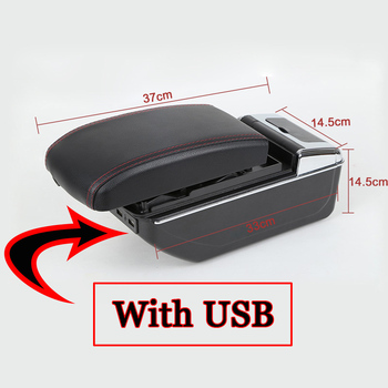 Автомобильный Стайлинг ABS с полиуретановой кожей автомобильный подлокотник коробка центральная консоль коробка для хранения держатель Че...
