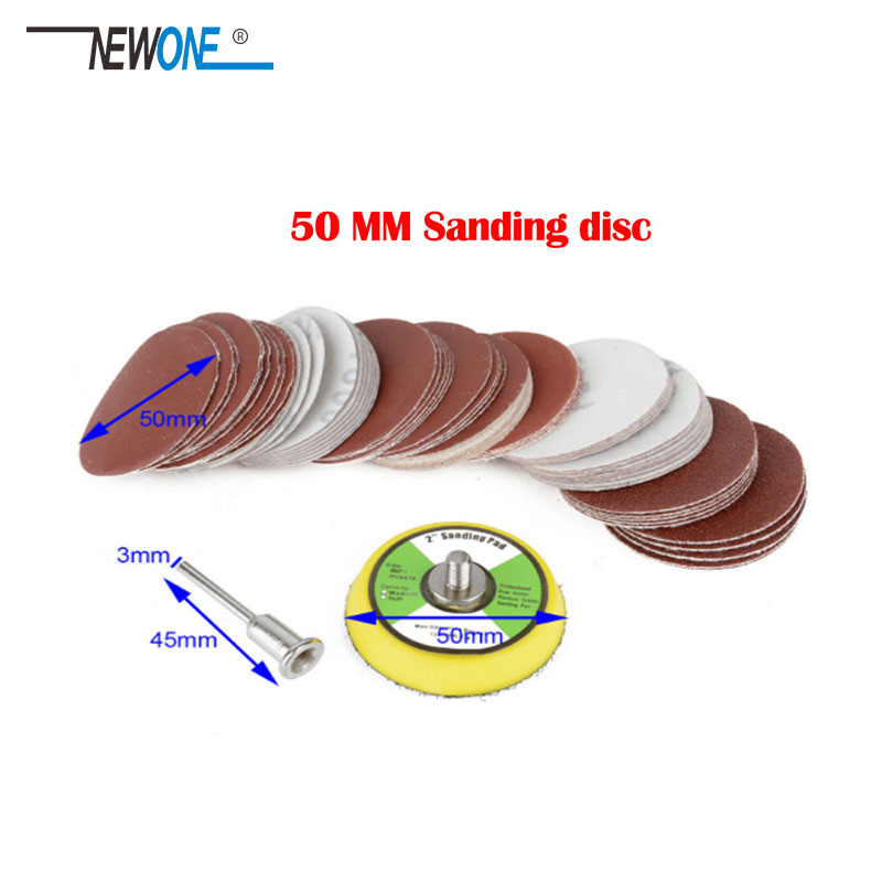 "100Pcs 2"" 50mm Sander Disc Sanding Polishing Pad Sandpaper 80-3000 Grits"