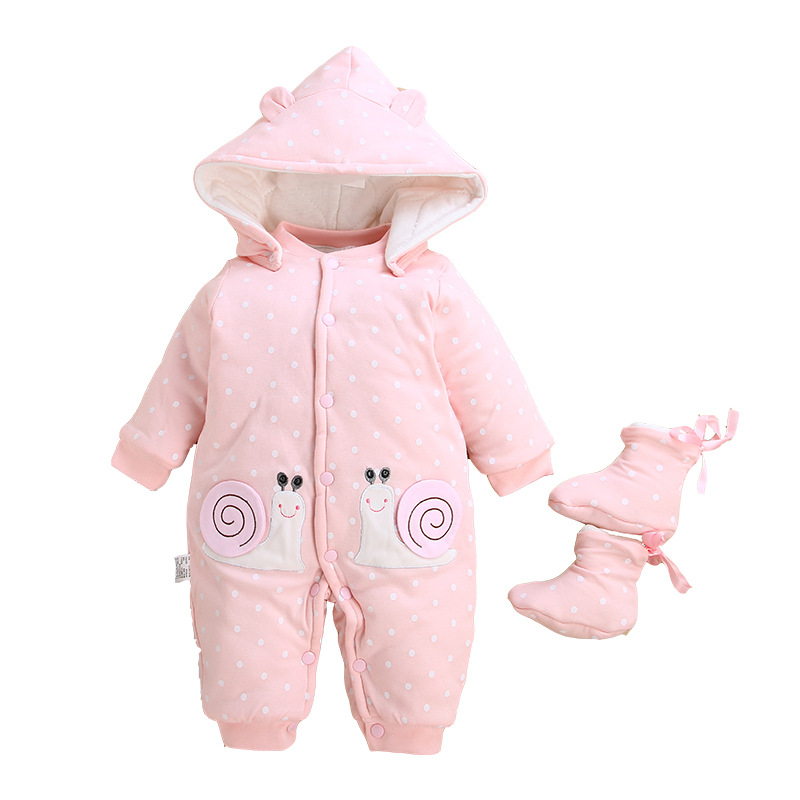 Image 5 - 2019 Baby Winter Romper For Newborn Girl Boy Clothes Toddler Baby Jumpsuit Overalls Thick Warm Baby Girl Rompers Infant Clothing-in Rompers from Mother & Kids