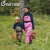 NEYGU children's and kids chest waders, fishing waders, boating pants with anti slip boots for paddling, sailing, Rowing6 11T