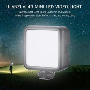 Image 2 - Ulanzi miniluz LED para vídeo VL49, 6W, batería integrada de 2000mAh, iluminación fotográfica de 5500K para cámara DSLR Canon, Nikon, Sony