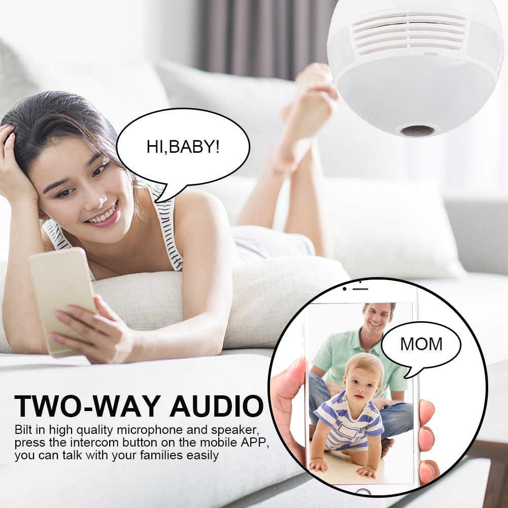 360 градусов светодиодный свет 1080P wifi ip-камера безопасности Детский видео монитор Мини Беспроводная лампа камера лампа HD сетевой пульт дистанционного управления