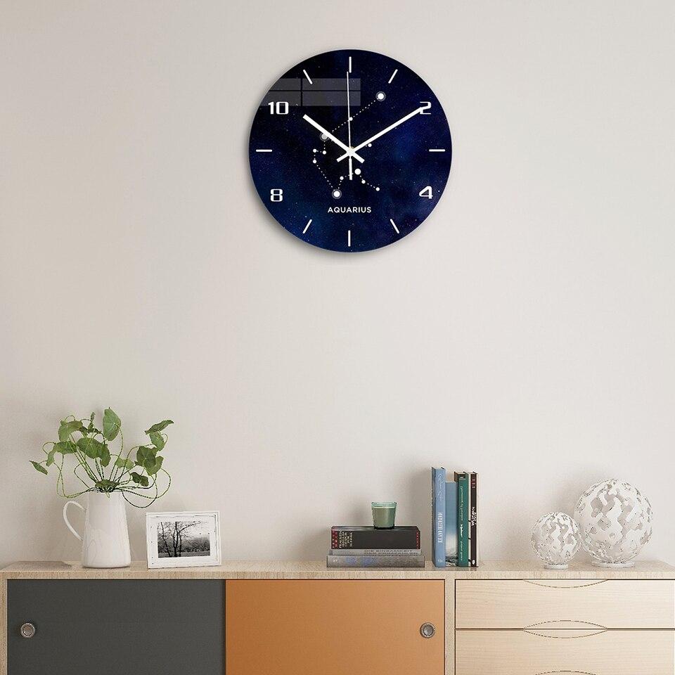 Wassermann Acryl Wanduhr Moderne Design Stille Uhrwerk Digitale Wanduhr für  Wohnzimmer Uhr Wohnkultur Geschenk