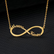 Custom Infinity Style Name Necklace Silver Gold Chain Stainless Steel Personalized Name Necklaces Women Couple Jewelry Gifts BFF