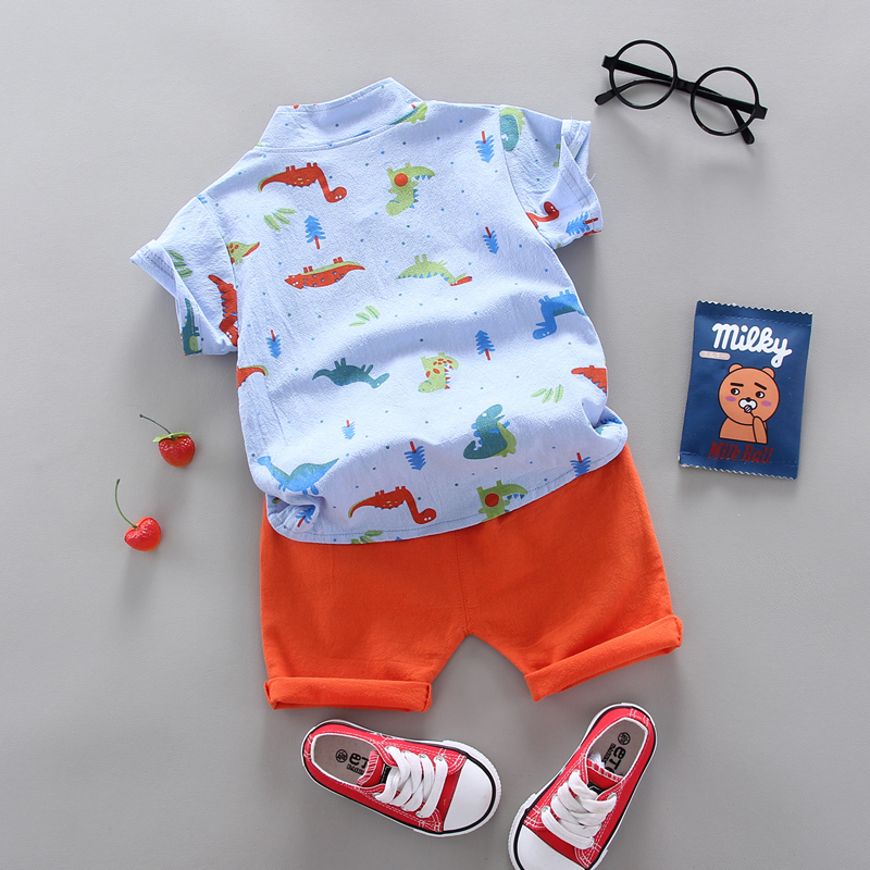 summer Children's suit  Clothes Sets Boys and girls Short sleeve shirt and Pants 2 pieces Clothing sets children's clothing Baby 5