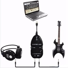 Wholesale Hot Guitar Cable Audio USB Link Interface Adapter For MAC/PC Music Recording Accessories For Guitarra Players Gift guitar to usb interface link cable adapter mac pc recording cd studio laptop