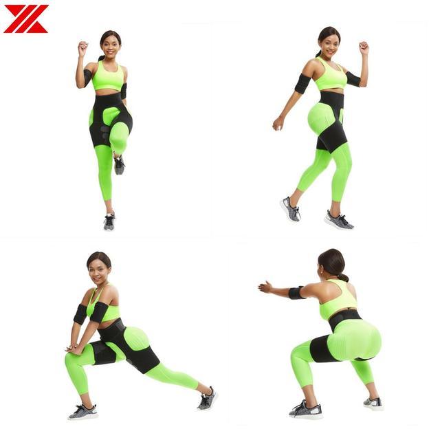 HEXIN Leg Belt Attach Waist Thigh Trimmer Velcro Sweat Band Leg Slimmer Weight Loss Neoprene Gym Workout Corset Firm Legs Strap 1