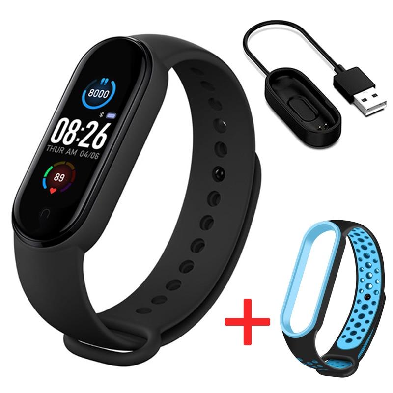 M5 relógios inteligentes banda esporte rastreador de fitness pedômetro freqüência cardíaca monitor de pressão arterial bluetooth pulseira das mulheres dos homens m5