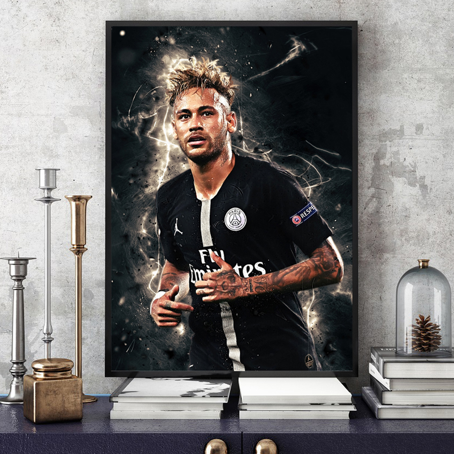 Neymar Posters Football Stars Canvas Wall Art Paintings Decorative Football Player Prints Posters Prints Boys Room Home Decor