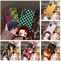Anime Kimetsu no Yaiba caso de teléfono para Samsung Galaxy A21S A01 A11 A31 A81 A10 A20E A30 A40 A50 A70 A80 A71 A51