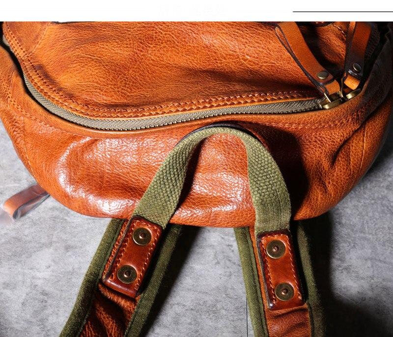 Original nova primeira camada de couro bolsa
