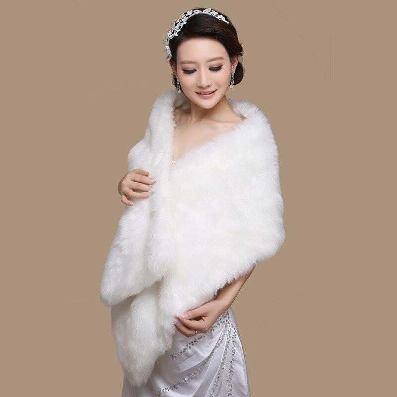 Winter Women Bolero 2018 Elegant Wedding Dress Coat Wraps High Quality Bridal Jacket Bryllupsindpakning