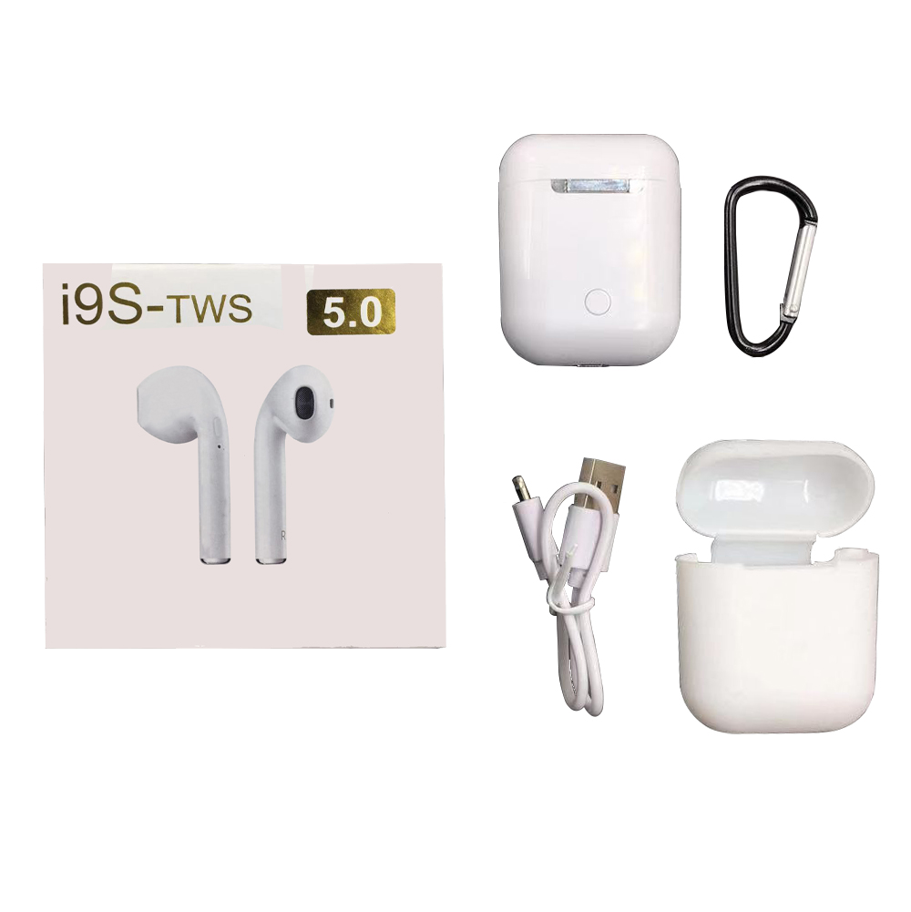 I9S TWS Wireless Bluetooth Earphones Stereo Bass Earbud With Mini Portable Charging Box Earphone For Phone
