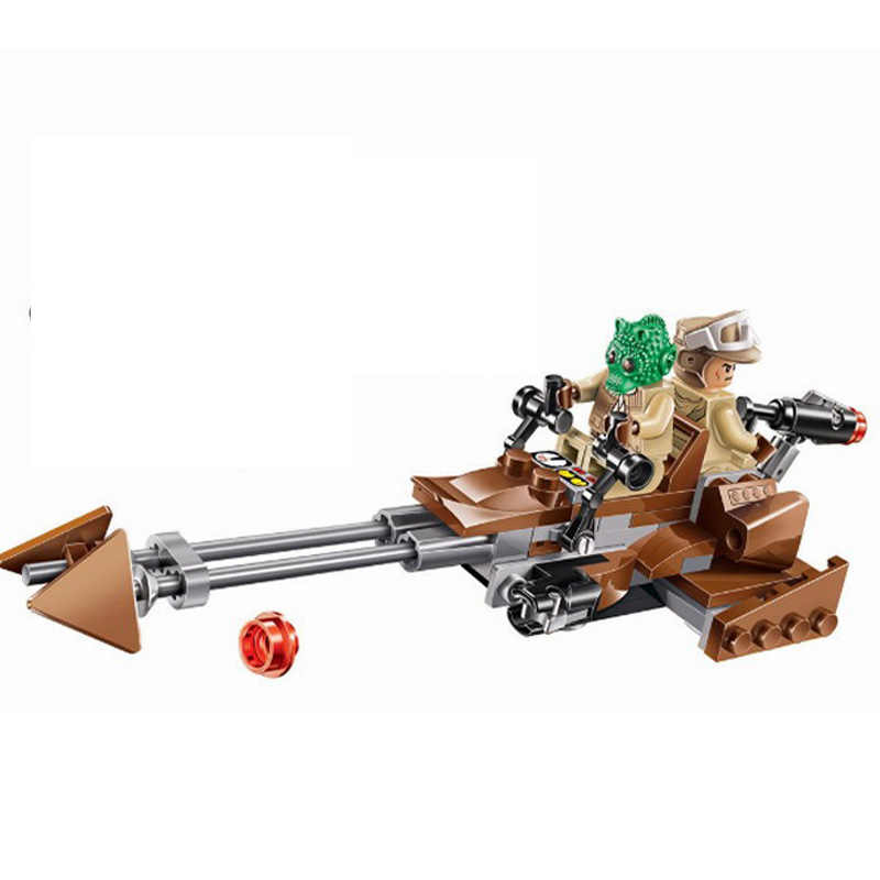 10572 Star Wars Rebel Alliance Rebels Ezra 'S Speeder Bike Model Bouwstenen Enlighten Action Figure Speelgoed Voor Kinderen