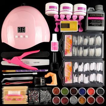 Pro Acrylic Nail Kit With Lamp Dryer Full Manicure Set For Nail Art Acrylic Powder Liquid Tips Brush Tools Kit For Manicure Set 1