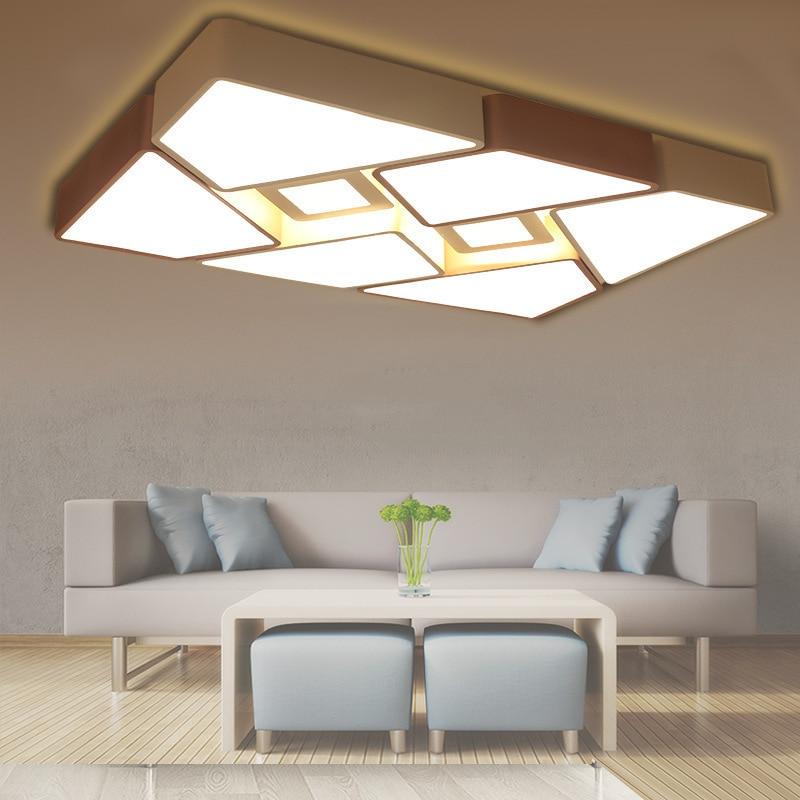LED Ceiling Lamp Northern European-Style Creative Geometry Rectangular Living Room Restaurant Bedroom Lamp Modern Minimalist Acr