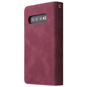 Image 2 - Luxe Zipper Wallet Card Case Voor Samsung Galaxy S10 S20 S9 S8 Plus S10e Note 9 10 Pro Flip Cover stand Multi Slots