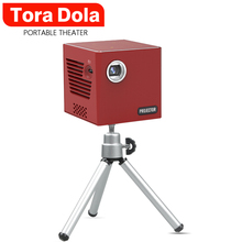 TORA DOLA Mini DLP Projector C90, Android 7.1.2 With WIFI for home cinema, portable Beamer 3D HDMI Movie Game Proyector orimag p6 portable smart mini dlp led wifi projector