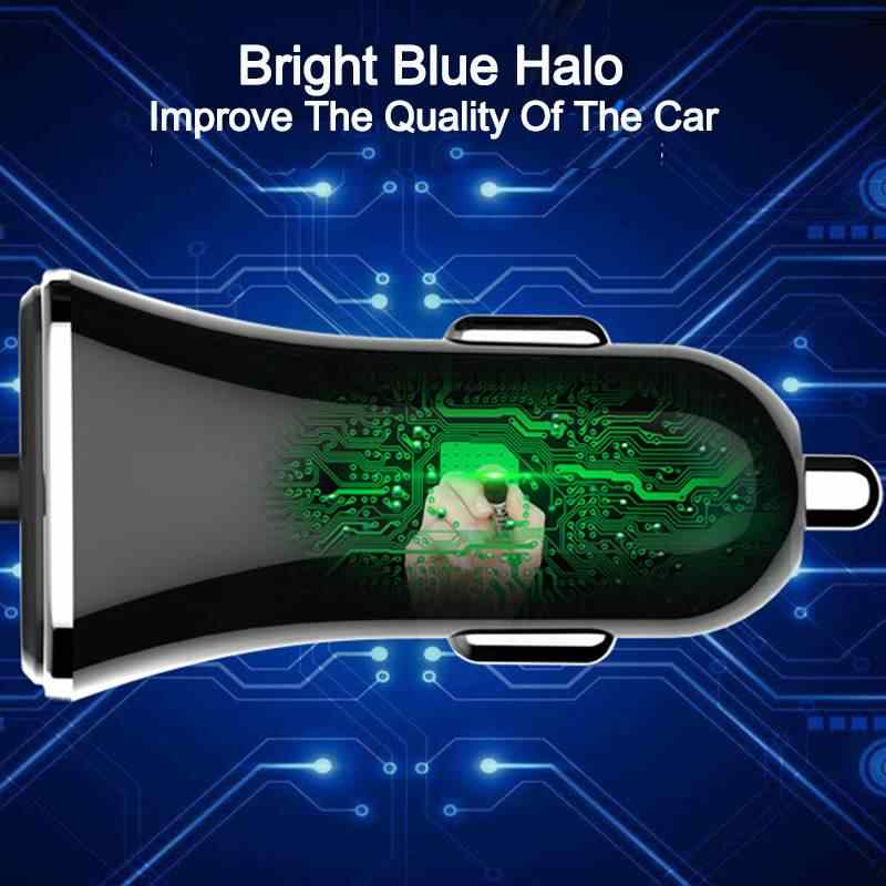 العالمي متعدد 4 منافذ USB سريع شاحن سيارة 5V 5.8A سريعة سيارة محول الشحن للجوال هاتف لوحي السجائر سيارة-شاحن