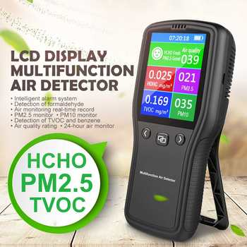 Mini PM2.5 Air Detector Air Quality Monitor Digital Tester Appliance For Monitor Formaldehyde TVOC PM2.5 PM10 HCHO Gas Analyzer