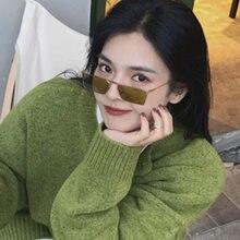 Vintage étroites petites lunettes de soleil femmes marque de luxe en métal cadre lunettes de soleil Rectangle conduite lunettes lunettes de pêche hommes 2021