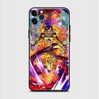 Golden freezer DBL Anime para IPhone Se 6s 7 8 Plus X Xr Xs 11 12 Mini Pro Max TPU de silicona suave cubierta de la caja del teléfono Shell