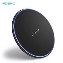 FDGAO 15W Qi Wireless Charger For Samsung S10 S9 S8 iPhone 11 X XS XR Huawei P30 Pro Xiaomi 9 Mobile phone 10W Fast Charging Pad