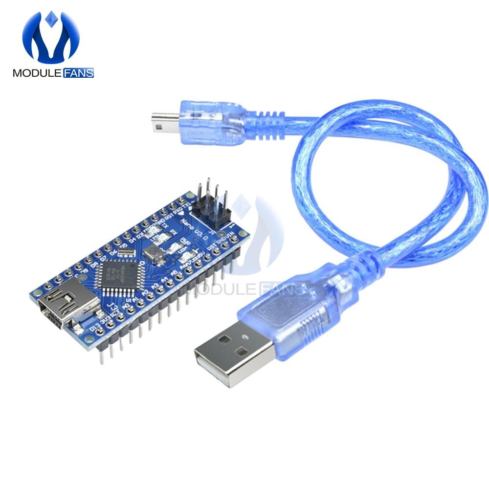 Nano V3.0 3,0 FT232 чип ATmega328 Atmega328p 16 м 16 МГц плата для Arduino UNO R3 Mini Usb AU без Usb кабеля I/O