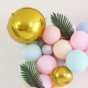 Image 5 - Bahçe çiçek tarzı Parti Balonlar düğün/nişan/yıldönümü/thirthday parti dekorasyon pembe, altın, gümüş, mor