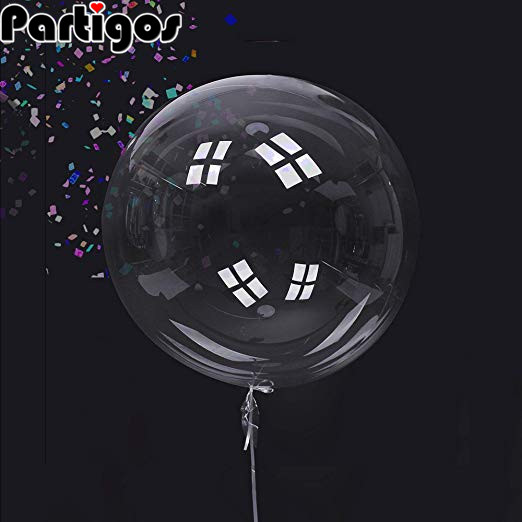 <font><b>100pcs</b></font> Helium Bobo Balloons 10/18/24/36 Inch Transparent PVC Balloon Birthday Party Decoration Air <font><b>Ballons</b></font> Wedding Decor Favor image