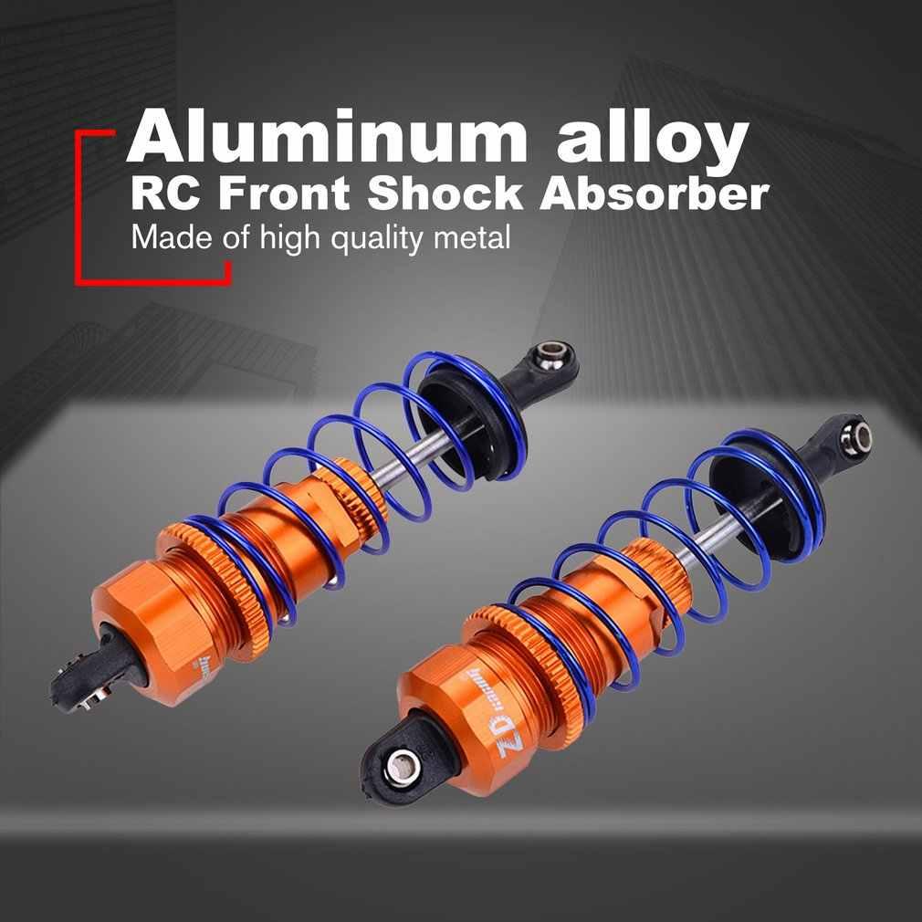 2 pces 92/105mm rc liga frente/óleo traseiro enchido amortecedor ajustável para zd racing 7358 1/10 rc carro buggy caminhão truggy