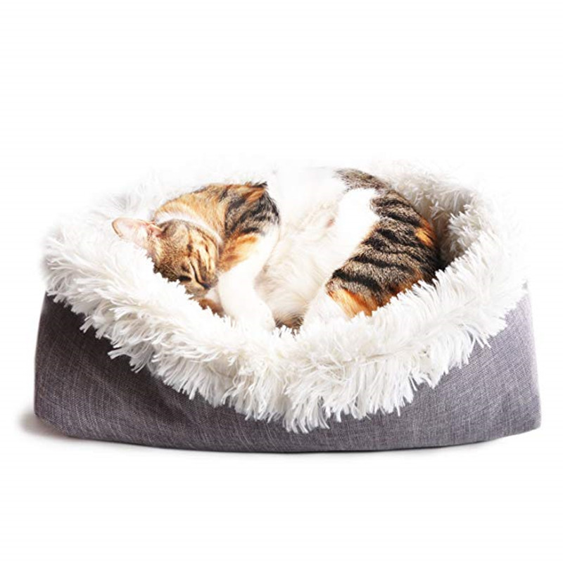 New Soft Cat Bed Rest Dog Blanket Winter Foldable Double use of pet bed matCushion Hondenmand Plush Soft Warm Sleep Mat 3