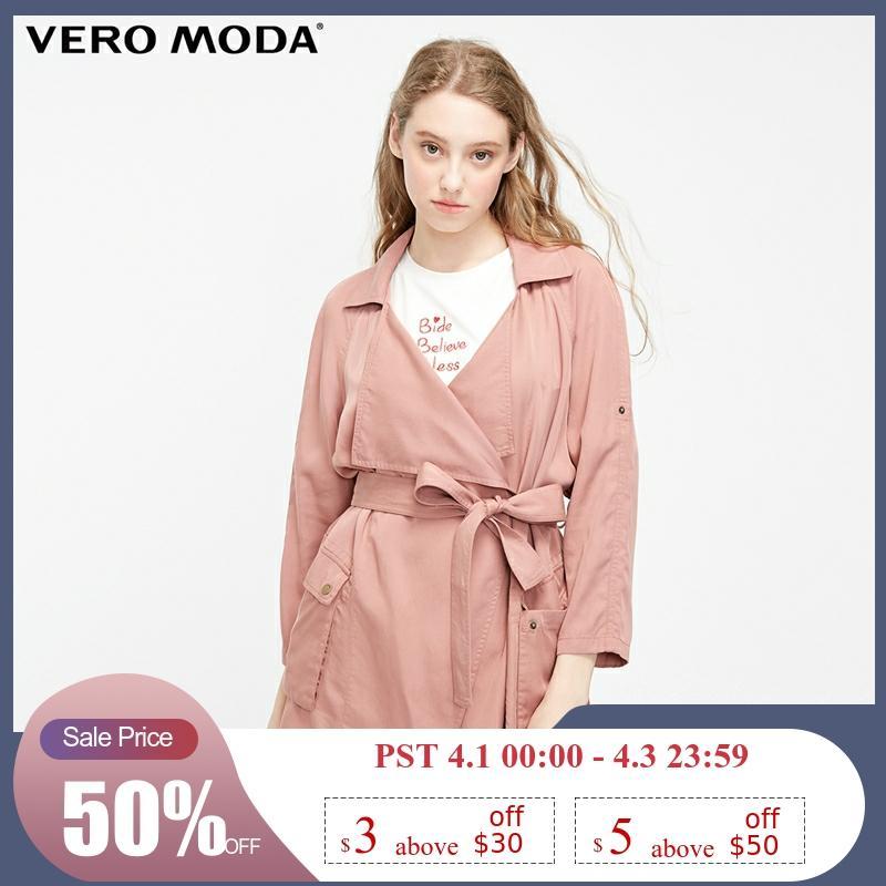 Vero Moda Women's New Lapel Adjustable Sleeves Trench Coat | 319117503