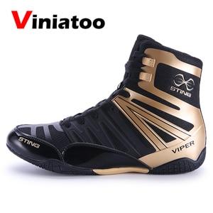 Мужские Нескользящие боксерские кроссовки, профессиональная обувь для борьбы, удобные роскошные, качественные Сникерсы для бокса