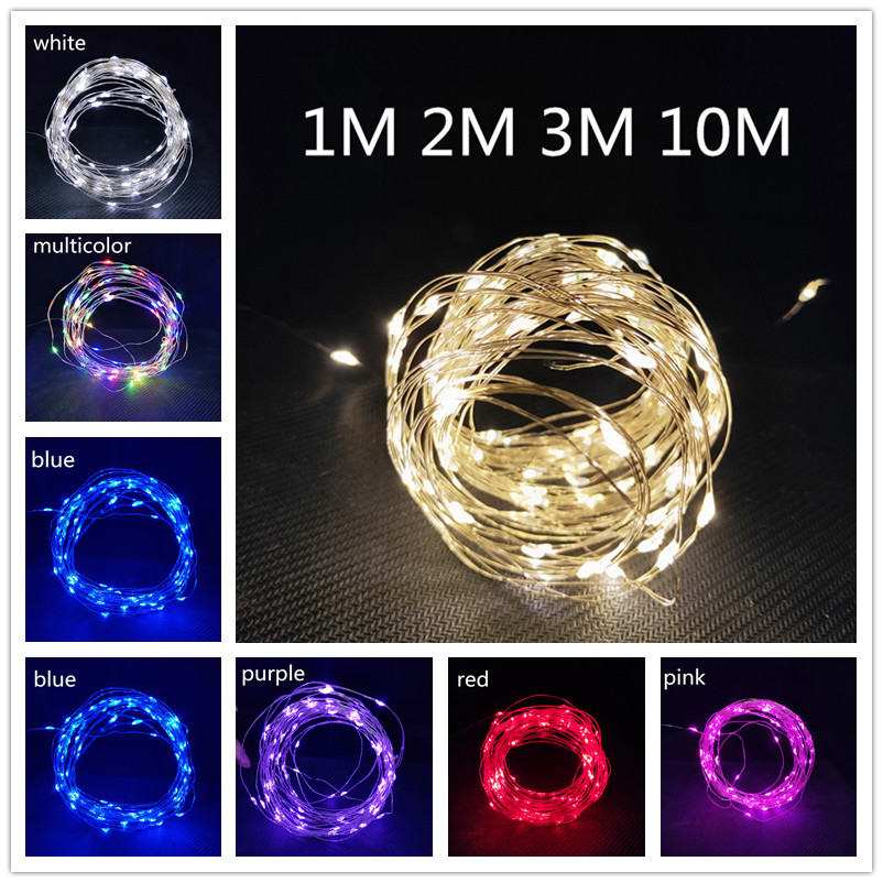 1M 2M 3M 10M LED Garland Copper Wire Corker String Fairy Lights For  Christmas Tree New Year 2020 Christmas Decorations For Home