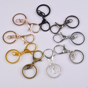 Image 1 - 100 pièce 35mm mousqueton fermoir crochet et 30mm anneau porte clés fendu porte clés pour bijoux à bricoler soi même faisant des accessoires