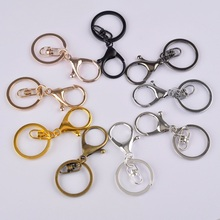 100piece 35mm Lobster Clasp Hook and 30mm Ring Keychain Split Keyring For DIY  Jewelry Making Accessories