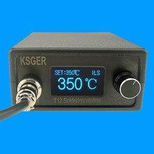 Ksger stm32 v3.1s t12 estação de solda oled diy liga alumínio fx9501 lidar com ferramentas elétricas de aquecimento rápido t12 pontas ferro 8s latas