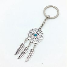Alloy Dreamcatcher Metal Keychain Dream Catch Tassel Pendant Keyring Personalized Retro Car