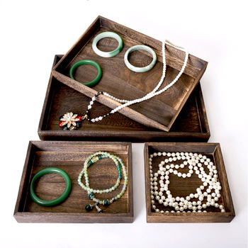 Classic Wooden Jewelry Tray Jewelry Organizer Bangle Earrings Bracelets Choker Necklaces Pendants Storage Jewelry Plate strollgirl classic necklaces