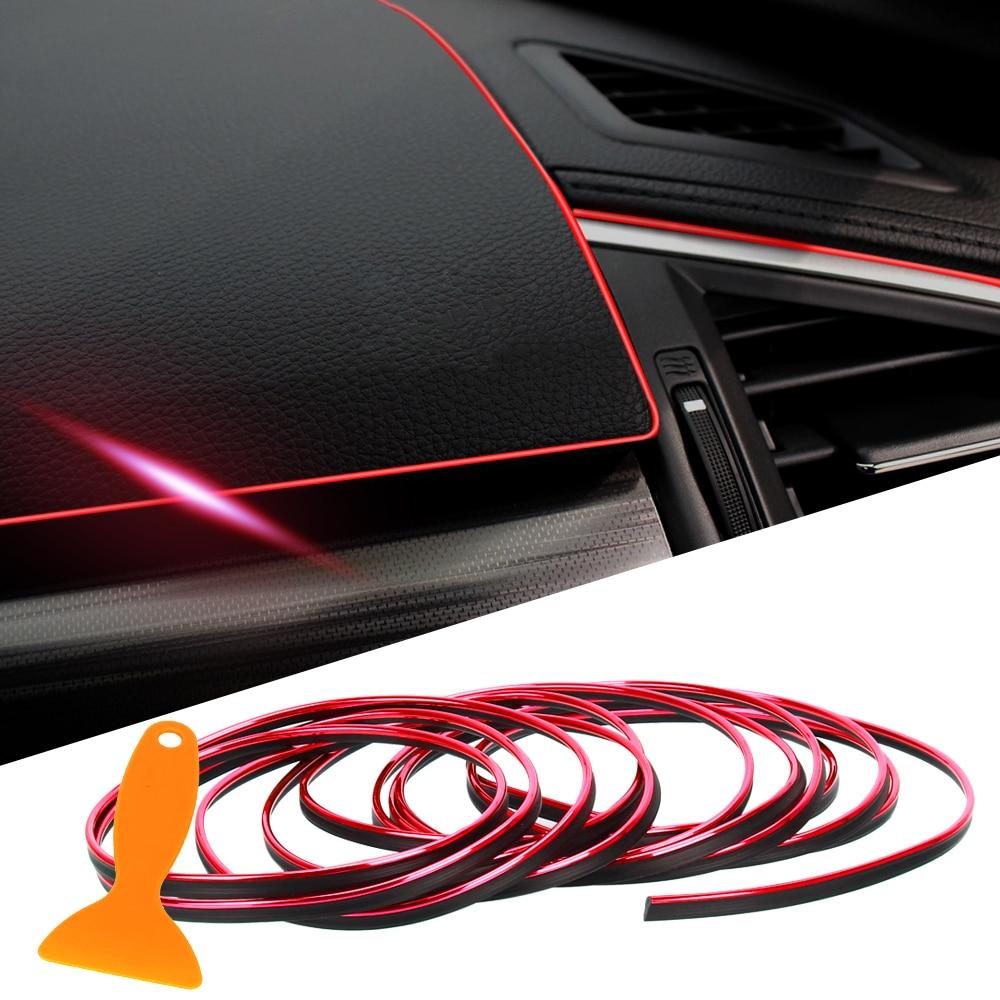 5M Bright Car Interior Styling Moulding Trim Strip DIY Decorative Line