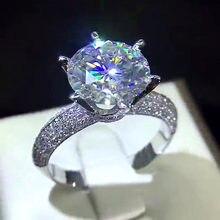 Женские обручальные кольца с крупным фианитом 10 мм
