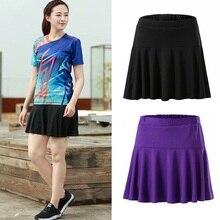 Skorts Badminton Tennis-Skirts Golf-Solid-Skirt XS-XXXL Girls Sport Pleated Athletic