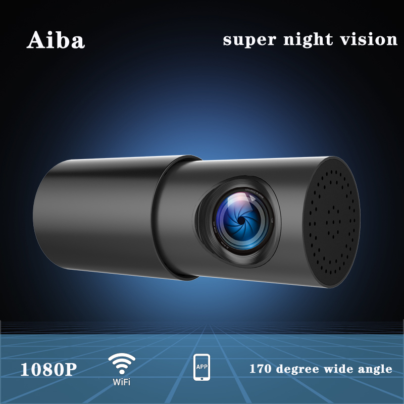Aiba A10 Dash Cam Wifi APP 1080P HD Vision Nocturne G-capteur Dashcam Caméra vidéo de voiture Enregistreur 24H Parking Moniteur Voiture DVR Caméra